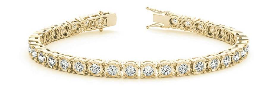 4.8 Carat Diamond Engagement 14K Yellow Gold Bracelet