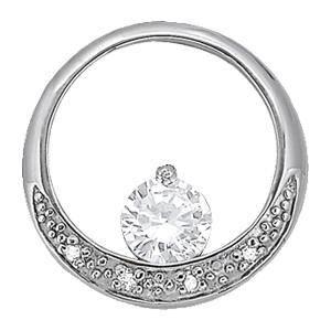 0.49 Carat Diamond Engagement 14K White Gold Pendant