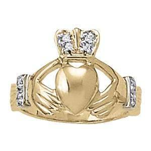0.08 Carat Diamond Engagement 14K White Gold Religious