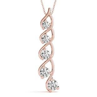 1.50 Carat Diamond Engagement 14K Rose Gold Journey