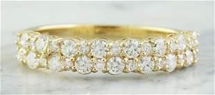 0.75 CTW 18K Yellow Gold Diamond Ring