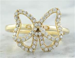 0.54 CTW 18K Yellow Gold Diamond Ring
