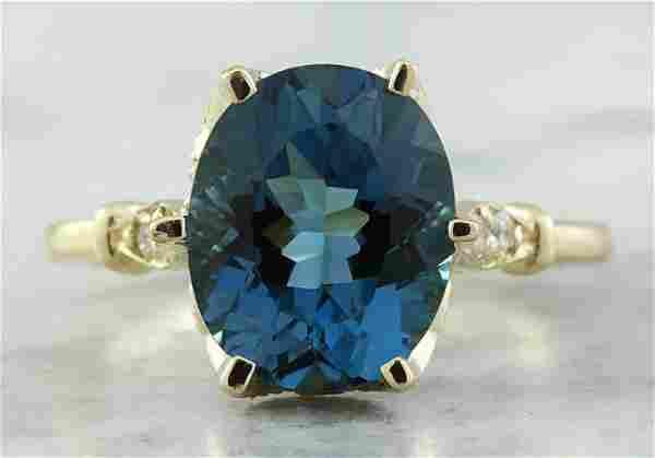 3.41 CTW Topaz 18K Yellow Gold Diamond Ring