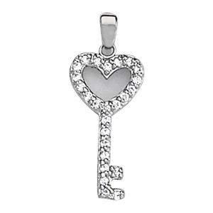 0.25 Carat Diamond Engagement 14K White Gold Key
