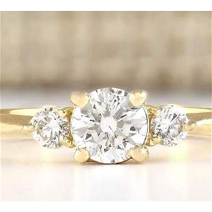 0.63 CTW Natural Diamond Engagement Ring 14k Solid
