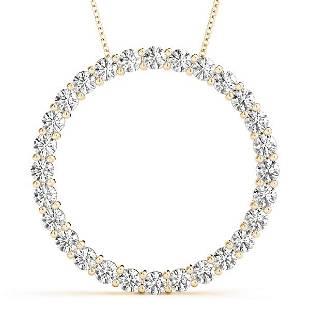 0.99 Carat Diamond Engagement 14K Yellow Gold Circle