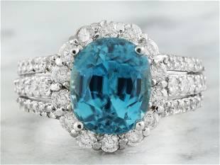 9.32 CTW Zircon 14K White Gold Diamond Ring