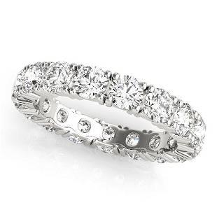 2.55 Carat Diamond Engagement 14K White Gold Eternity