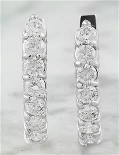 1.00 CTW 14K White Gold Diamond Earrings
