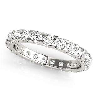 3.75 Carat Diamond Engagement 14K White Gold Eternity