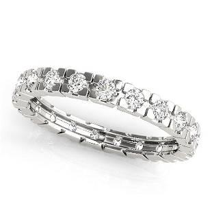0.60 Carat Diamond Engagement 14K White Gold Eternity