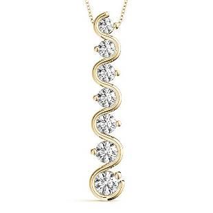 0.26 Carat Diamond Engagement 14K Yellow Gold Journey