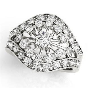0.50 Carat Diamond Engagement 14K White Gold Right Hand