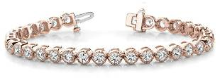 2.16 Carat Diamond Engagement 14K Rose Gold Bracelet