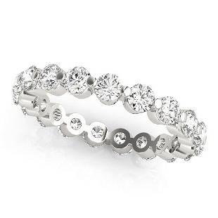 1.54 Carat Diamond Engagement 14K White Gold Eternity