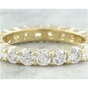 2.55 CTW Diamond 18K Yellow Gold Eternity Ring Band