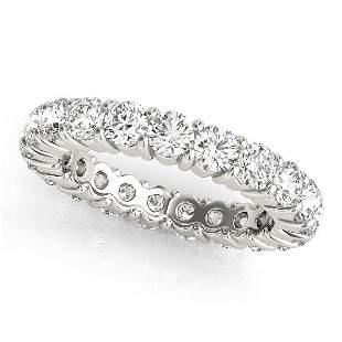 3.15 Carat Diamond Engagement 14K White Gold Eternity