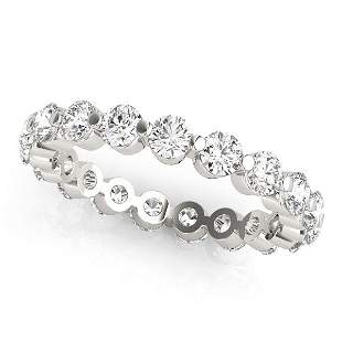 1.60 Carat Diamond Engagement 14K White Gold Eternity