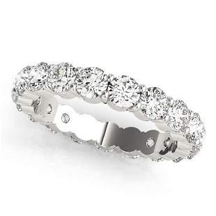 2.20 Carat Diamond Engagement 14K White Gold Eternity