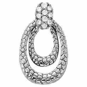 0.12 Carat Diamond Engagement 14K White Gold Pendant