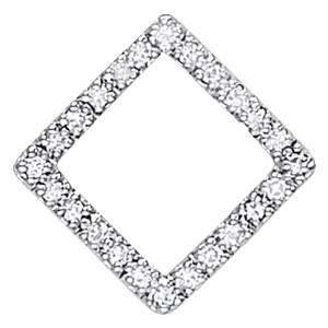 0.24 Carat Diamond Engagement 14K White Gold Pendant