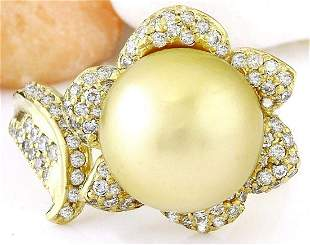 11.28 mm Gold South Sea Pearl 14K Solid Yellow Gold