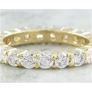 2.55 CTW Diamond 14K Yellow Gold Eternity Ring Band