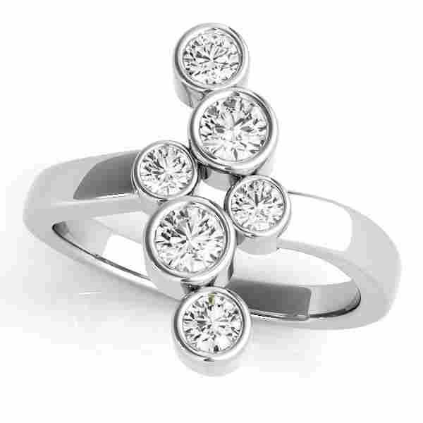 0.48 Carat Diamond Engagement 14K White Gold Right Hand