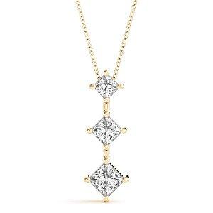 0.34 Carat Diamond Engagement 14K Yellow Gold 3-Stone