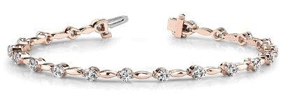 3.99 Carat Diamond Engagement 14K Rose Gold Bracelet