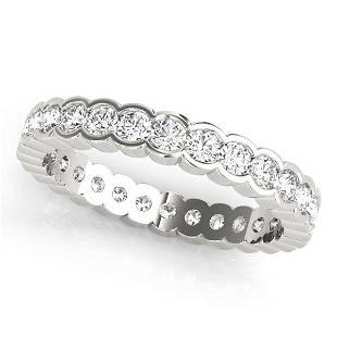 3.8 Carat Diamond Engagement 14K White Gold Eternity