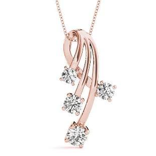 1 Carat Diamond Engagement 14K Rose Gold Journey