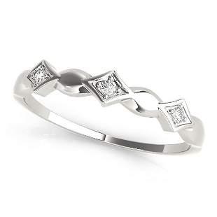 0.03 Carat Diamond Engagement 14K White Gold Stackable