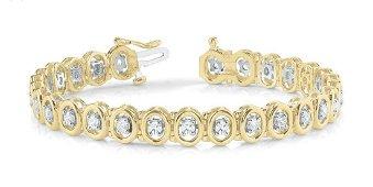 2.60 Carat Diamond Engagement 14K Yellow Gold Bracelet