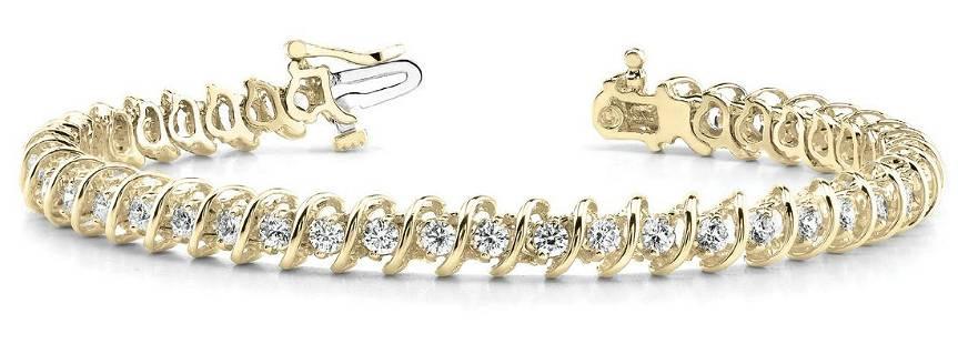 7 Carat Diamond Engagement 14K Yellow Gold Bracelet