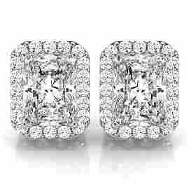 Natural 3.83 CTW Diamond Earrings 18K White Gold