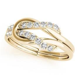 Natural 0.24 CTW Diamond Ring 18K Yellow Gold