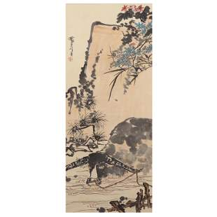 A CHINESE PAINTING OF CATTLE