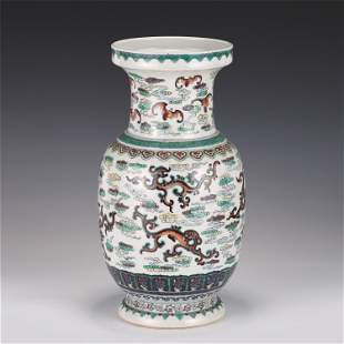 A CHINESE BLUE AND WHITE DOU CAI PORCELAIN VASE