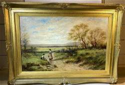 Edwin Steele British 1837  1898 Oil Painting
