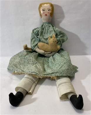 Doll with Paper Mache Head