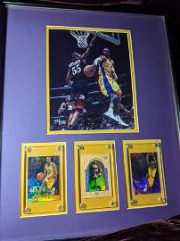 Kobe Bryant autographed UD witnessed photo with cards!