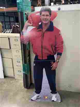 DAVID HASSELHOFF BAYWATCH LIFE SIZE STANDEE AUTOGRAPHED