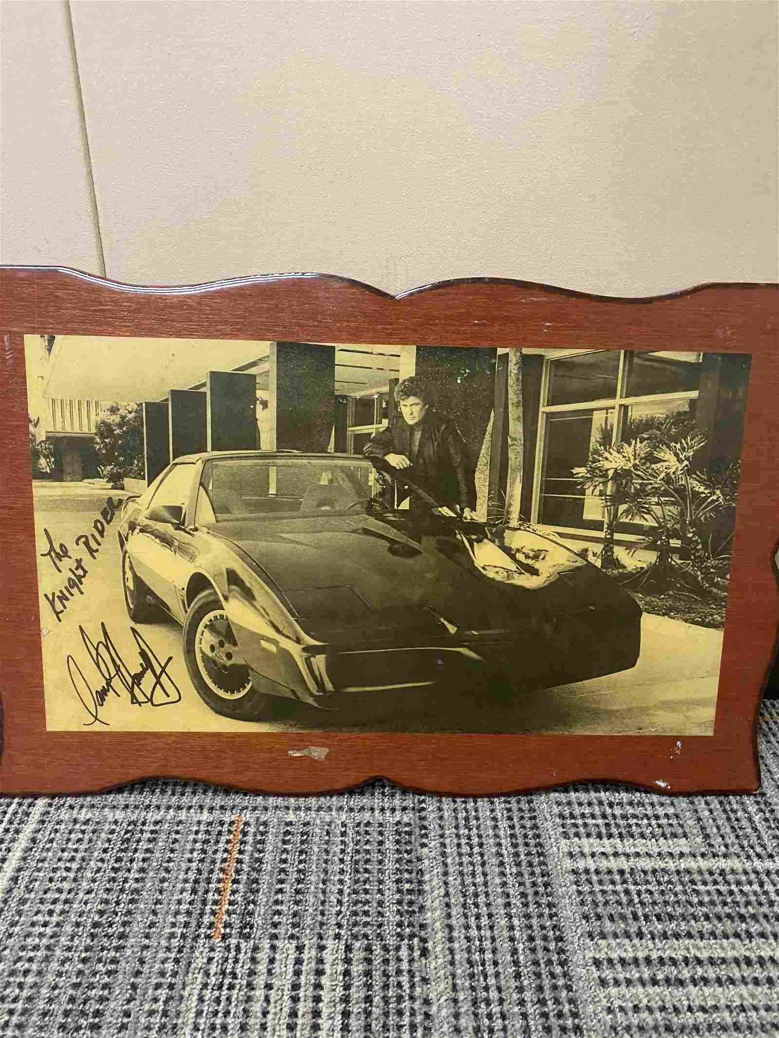 """12"""" X 19"""" AUTOGRAPHED """"THE KNIGHT RIDER"""" PHOTO"""