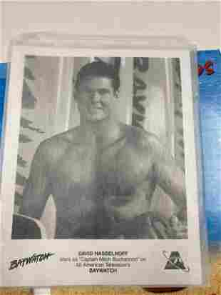DAVID HASSELHOFF AUTOGRAPHED BAYWATCH PRESS PROMOTIONAL