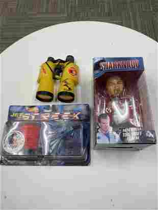 DAVID HASSELHOFF VARIOUS AUTOGRAPHED VINTAGE TOY LOT