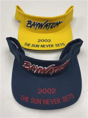 PAIR OF BAYWATCH 2002 BEACH VISORS