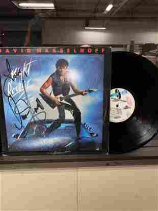 "DAVID HASSELHOFF AUTOGRAPHED ""NIGHT ROCKER"" RECORD"