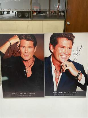 DAVID HASSELHOFF AUTOGRAPHED JEWELRY STORE DISPLAY