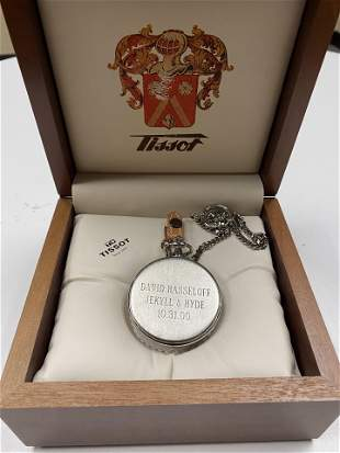 DAVID HASSELHOFF ENGRAVED TISSOT POCKET WATCH PRESENTED